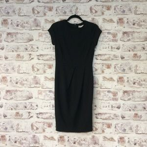 Zara Basics / Black Sheath Pleated Dress Small